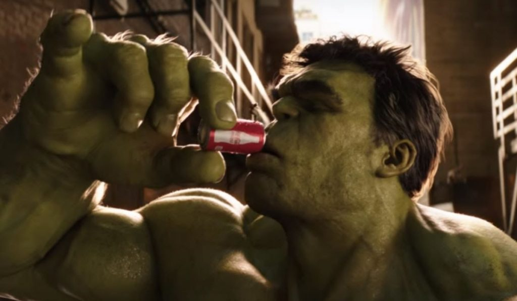 Hulk with a soda