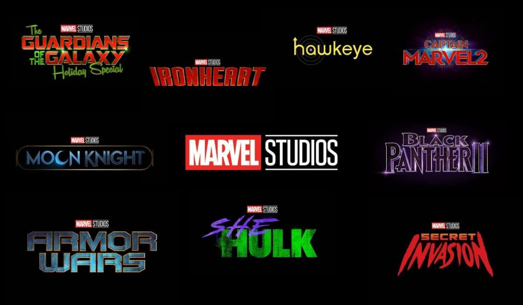 Upcoming Marvel movie collection